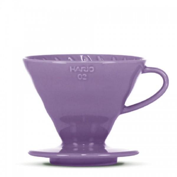 """Porzellanfilter Hario V60 02 """"Colour Edition"""" purple"""