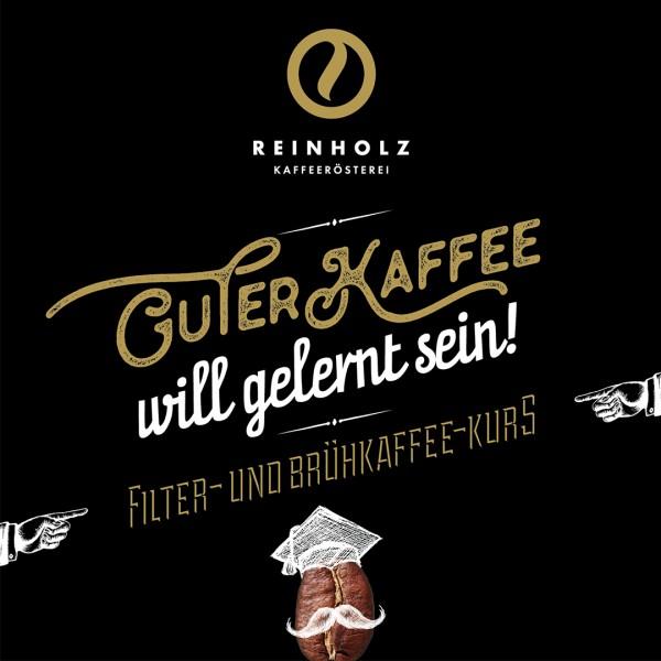 Reinholz Filter- und Brühkaffee-Kurs Gutschein 49 €