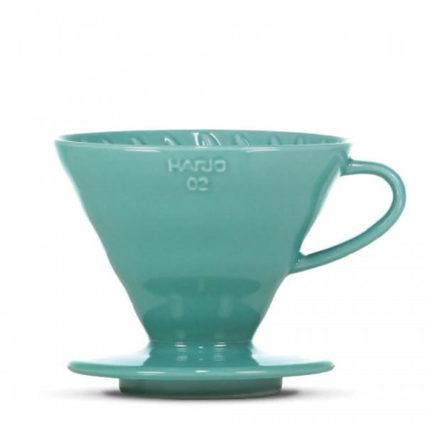 """Porzellanfilter Hario V60 02 """"Colour Edition"""" turquoise green"""
