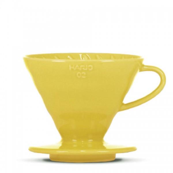"""Porzellanfilter Hario V60 02 """"Colour Edition"""" yellow"""