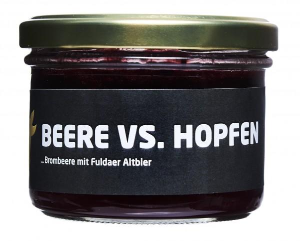 Rhöner Botschaft Brombeerkonfitüre mit Rhöner Altbier Beere VS. Hopfen 200g