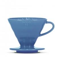 """Porzellanfilter Hario V60 02 """"Colour Edition"""" turquoise blue"""